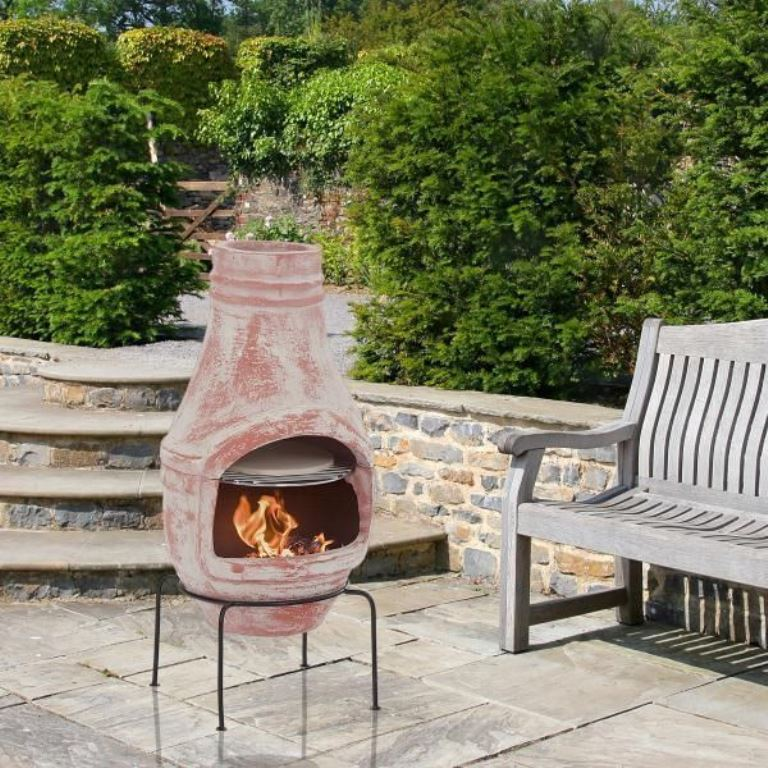 Patio heaters, fire pits, and pizza ovens