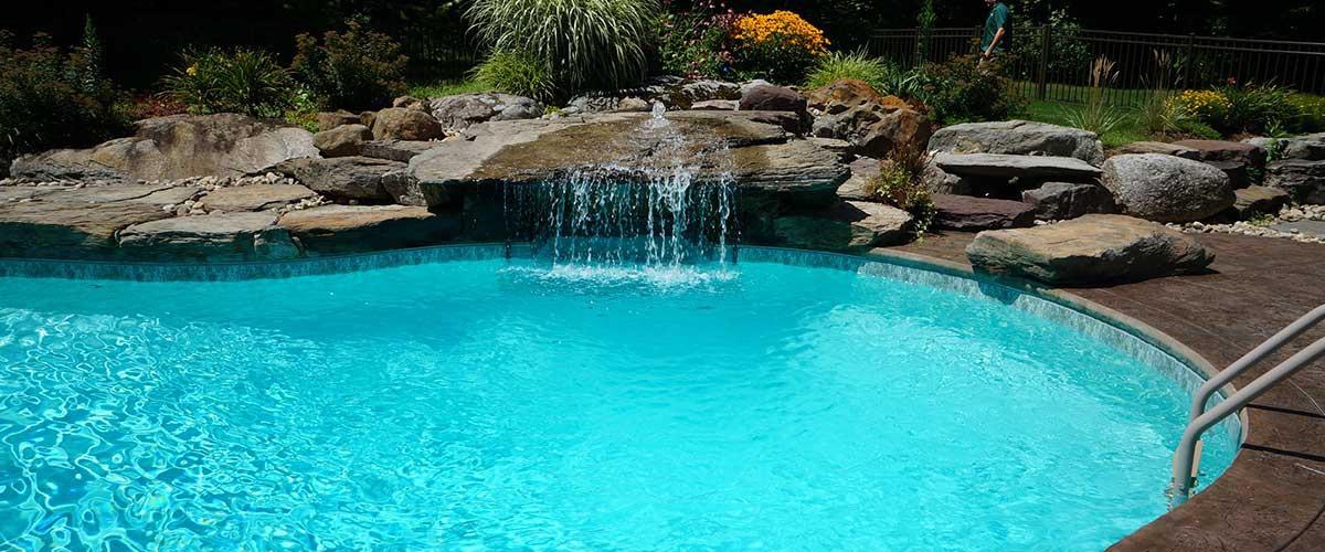 Concrete pool building process